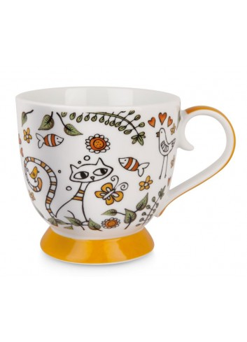 Tazza 410 ml La Fantasia Arancio PTE12-1A Tea for Two Egan