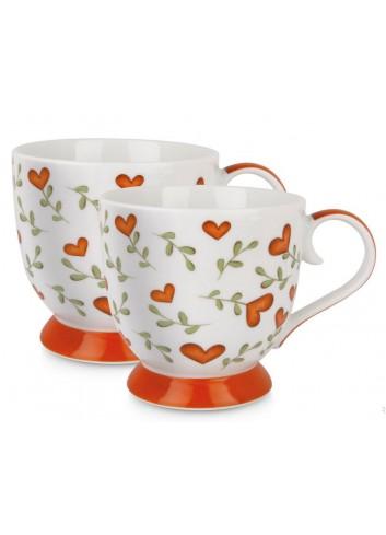 Set 2 tazze 410 ml L'amore e l'amicizia Rosso PTE12-2S Tea for Two Egan