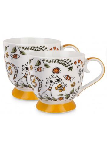 Set 2 Tazze 410 ml La Fantasia Arancio PTE12-2A Tea for Two Egan