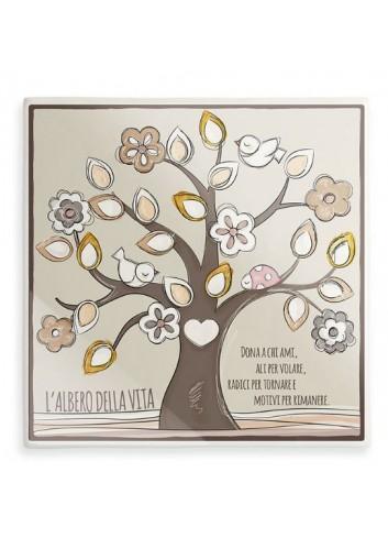 Formella Albero della vita Oro AL08Q-2M-3M L'albero della vita Egan