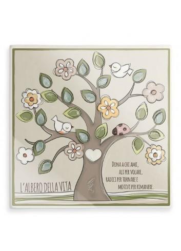 Formella Albero della vita Verde AL08Q-2-3 L'albero della vita Egan