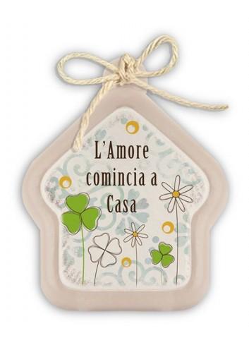 """Mini formella avorio Casa """"Home"""" PE08HO-23Y Pensieri & Parole Egan"""