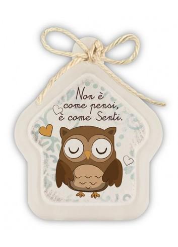 "Mini formella avorio Casa ""Sentire"" PE08HO-24Y Pensieri & Parole Egan"