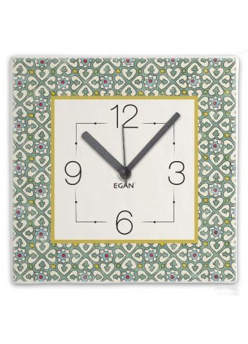 Orologio da parete 31 x 31 cm Turchese MJ09Q-4V Majorica Egan