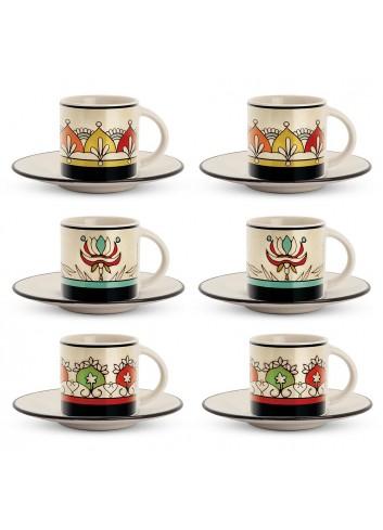 Set 6 tazzine caffè colori assortiti PME06-1Z Mediterraneo Egan