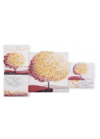 Quadro Trittico Un nuovo Orizzonte Spezie 90 x 50 cm 113916SP Cartapietra
