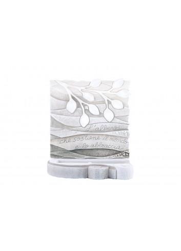 Scultura luminosa Albero della Vita Bianco SL3001BA Cartapietra