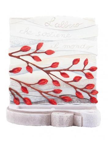Scultura luminosa Albero della Vita Rosso SL3001RO Cartapietra