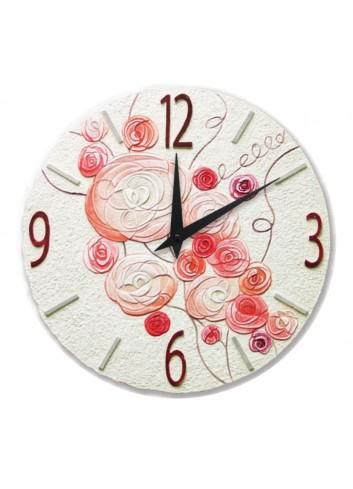Orologio sagomato Romantica Corallo Ø 45 cm 44518CR Cartapietra