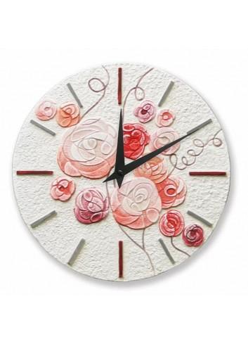 Orologio sagomato Romantica Corallo Ø 30 cm 43018CR Cartapietra