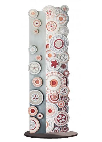 Scultura Luminosa sagomata Eclettica Corallo Rosa 100 x 30 cm SL10044CR Cartapietra