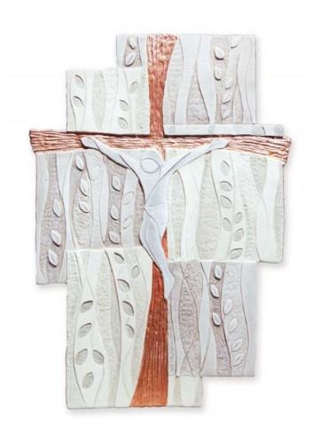 Quadro Crocifisso Ulivo Rame 104062RM - 105062RM Cartapietra