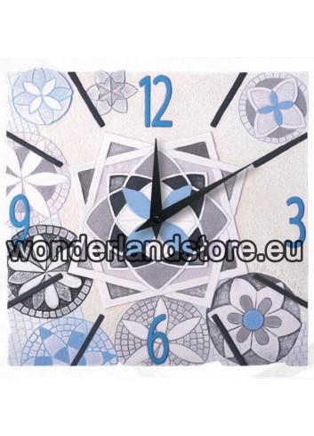 Orologio sagomato Immaginaria Azzurro 40 x 40 cm 44045az Cartapietra