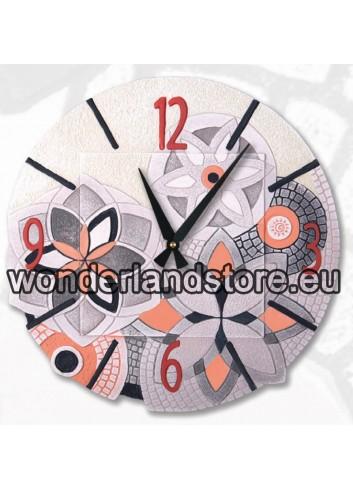 Orologio sagomato Immaginaria Rosa Ø 45 cm 44545ra Cartapietra