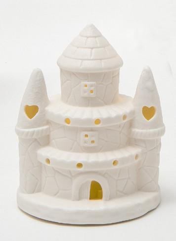 Castello con luce led in porcellana A8201-2-3 Princess Ad Emozioni