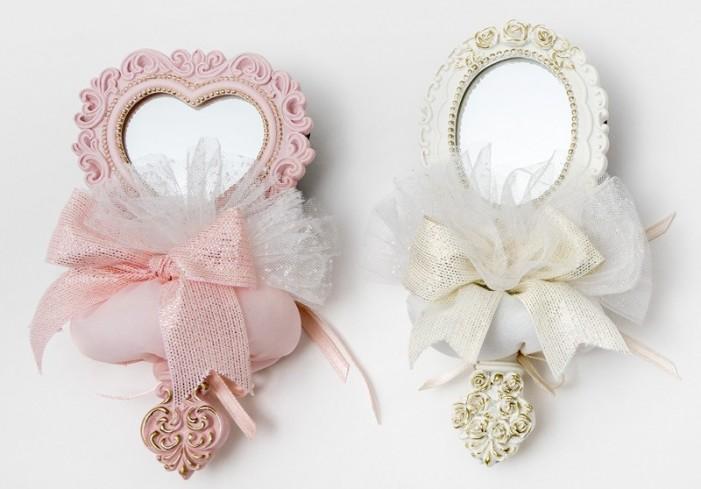 Specchietto in poliresina 2 modelli assortiti con sacchetto A8204-A Princess AD Emozioni