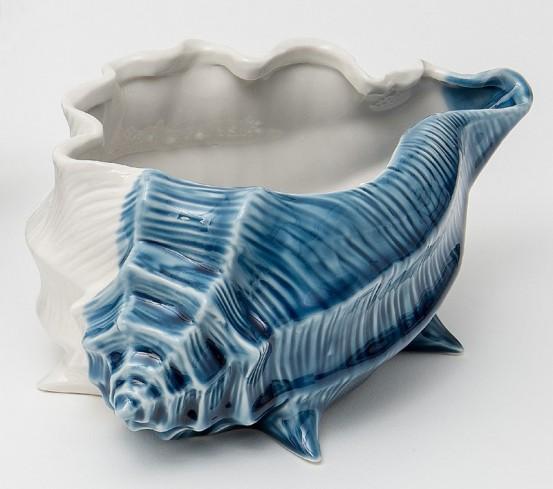 Conchiglia bianco blu in porcellana A7906/A7907 Oceano Ad Emozioni