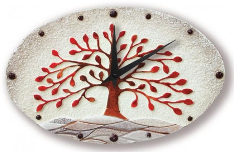 Orologio albero della vita rosso 43501ro Cartapietra