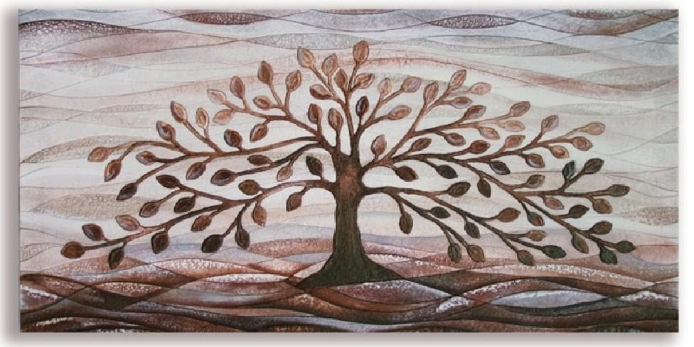 Quadro albero della vita cioccolato 101001co Cartapietra