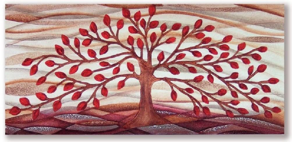 Quadro albero della vita rosso 101001ro Cartapietra