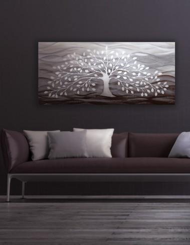 Quadro albero della vita bianco 101501ba Cartapietra