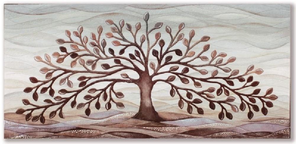 Quadro albero della vita cioccolato 101501co Cartapietra