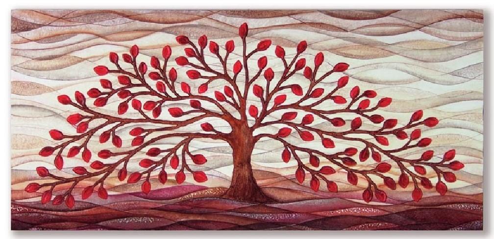 Quadro albero della vita rosso 101501ro Cartapietra