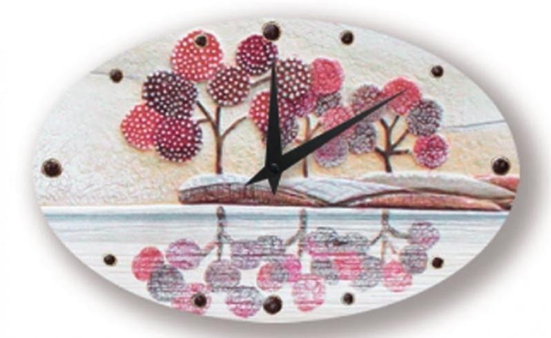 Orologio ovale Un Posto Tranquillo Rosso 43513ro Cartapietra