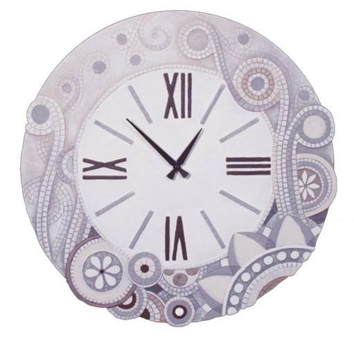 Orologio tondo eclettica bianco 47044ba Cartapietra