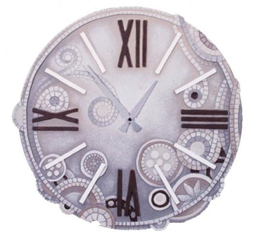 Orologio tondo eclettica bianco 44844ba Cartapietra