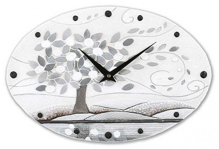 Orologio ovale Foglie al vento bianco 43548ba Cartapietra