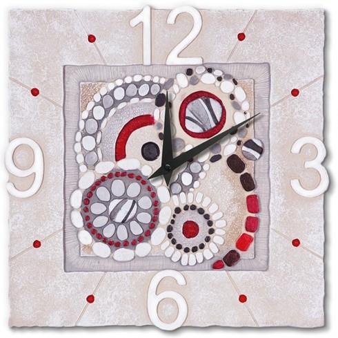 Orologio quadrato Sassi Rosso 44042ro Cartapietra