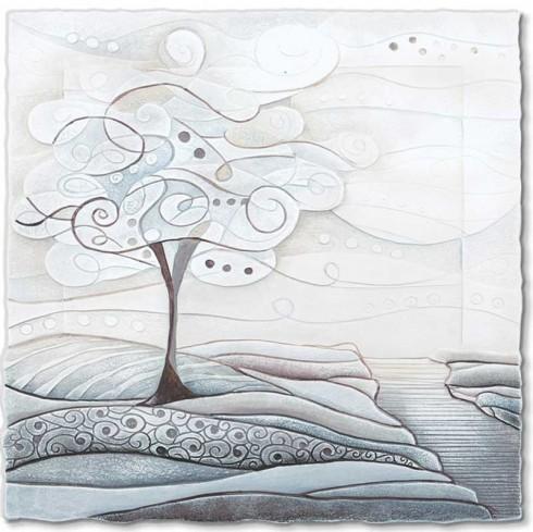 Quadro L'albero dei sogni bianco 1105106ba Cartapietra