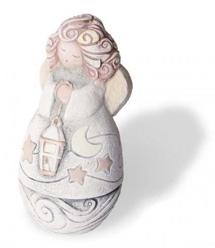 Scultura Angelino della Buonanotte Oro st18a02or Cartapietra