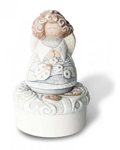 Rosa bianca quadro con cornice in legno bianca 18157 Valenti Argenti