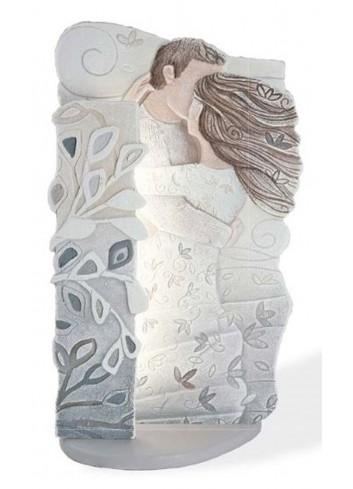 Scultura luminosa Tra le tue braccia bianco SL4502BA Cartapietra