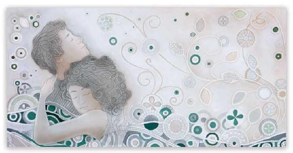 Quadro Respiro Verde 100 x 50 cm 101044ve Cartapietra