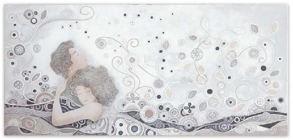 Quadro Respiro Bianco 150 x 50 cm 101544ba Cartapietra