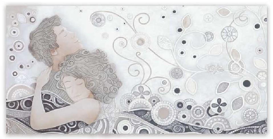 Quadro Respiro Bianco 100 x 50 cm 101044ba Cartapietra