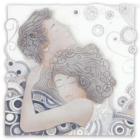 Formella Respiro Bianco 50 x 50 cm 110544ba Cartapietra