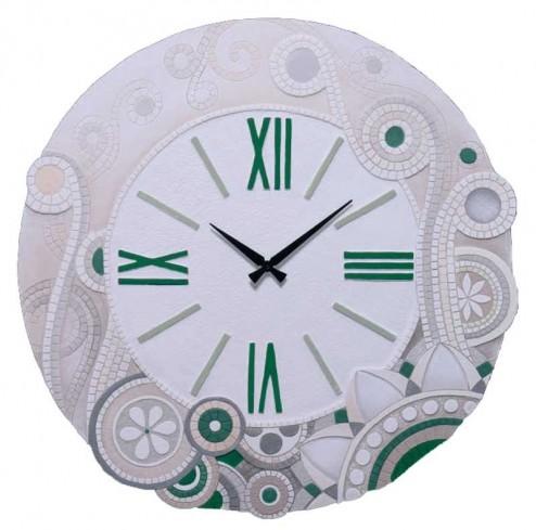 Orologio tondo eclettica verde Ø 70 cm 47044ve Cartapietra