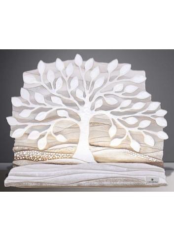 Scultura luminosa Albero della vita bianco SL3501ba Cartapietra