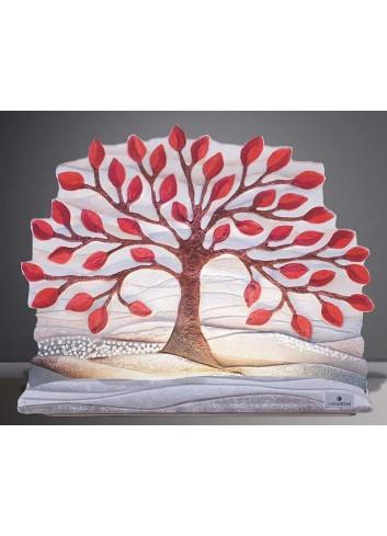 Scultura luminosa Albero della vita rosso SL3501ro Cartapietra