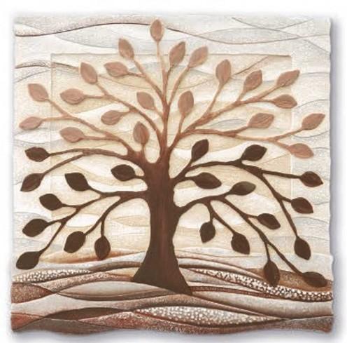 Formella Albero della vita cioccolato 50 x 50 cm 110501co Cartapietra