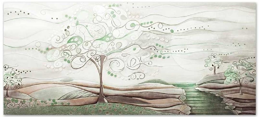 Quadro L'albero dei sogni verde natura 140 x 63 cm 1014106vn Cartapietra