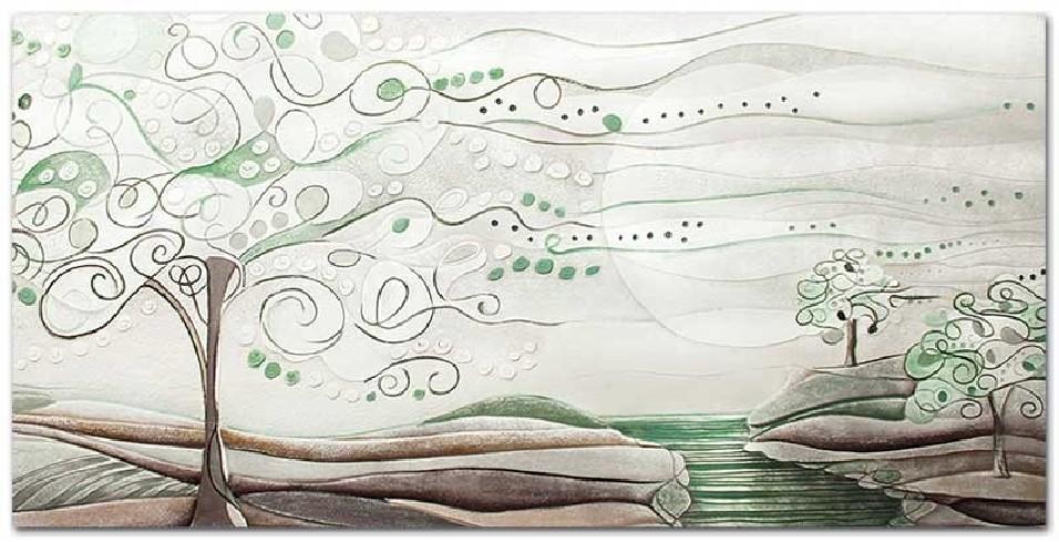 Quadro L'albero dei sogni verde natura 100 x 50 cm 1010106vn Cartapietra