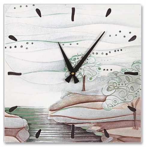 Orologio L'albero dei sogni verde natura 40 x 40 cm 440106vn Cartapietra