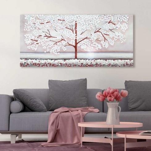 Quadro La prima luce rosa 140 x 63 cm 1014107ra Cartapietra