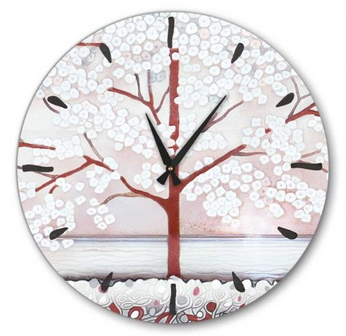 Orologio La prima luce rosa 65 x 65 cm 465107ra Cartapietra