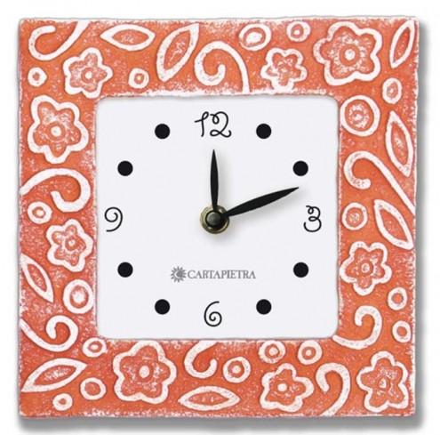 Orologio profumato quadrato Prati in fiore rosso 16 x 16 cm pb016ro Cartapietra